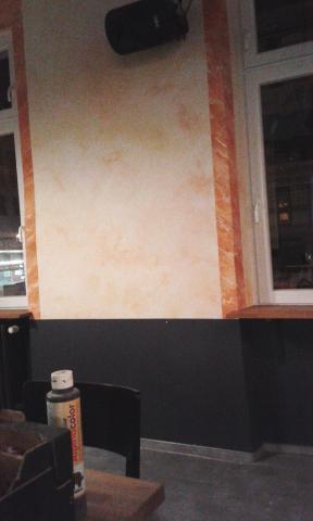 marmorierter wandabschnitt