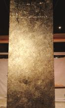 Säule mit Blattmetall vergoldet